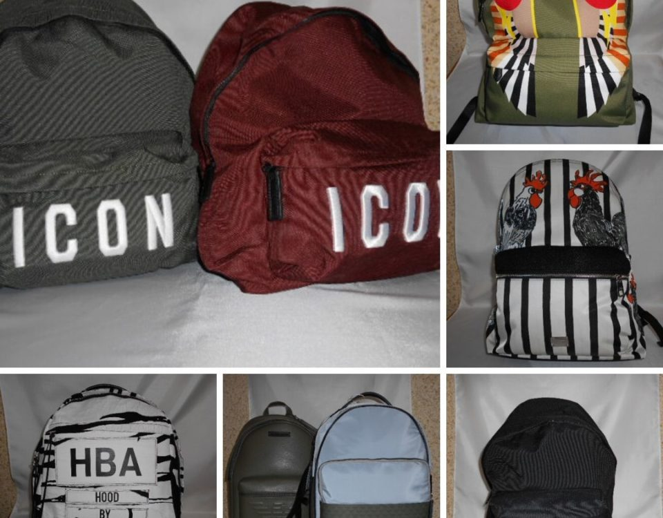 Dolce & Gabbana, Armani, DSquared backpacks: few pieces available in stock. For info…